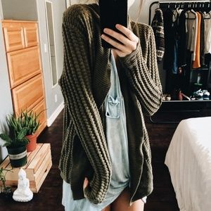 Olive Chunky Sweater